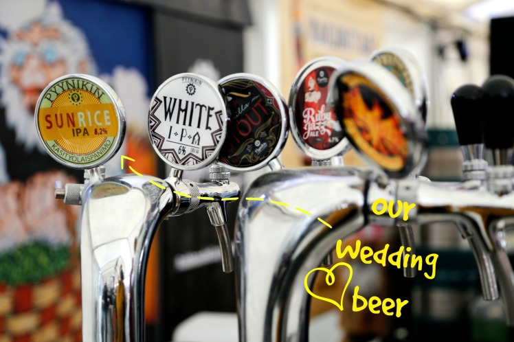 our wedding beer